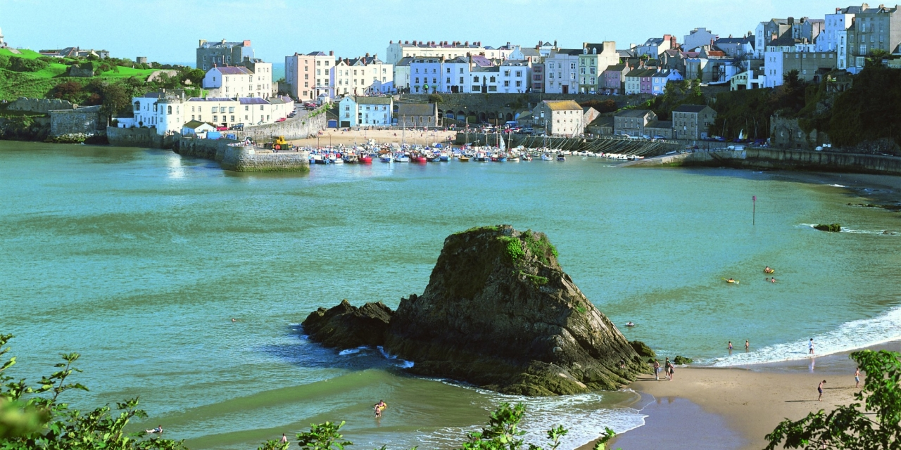 Tenby Harbour from the North Beach